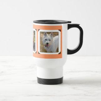 珊瑚のオレンジ愛犬家の数々の写真のタンブラー トラベルマグ