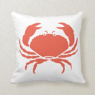 珊瑚のカニの白の枕 クッション