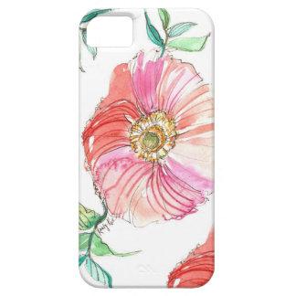 珊瑚のケシの水彩画のiPhoneの場合 iPhone SE/5/5s ケース