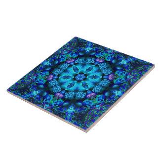珊瑚のコルヌコピアの曼荼羅のタイル 正方形タイル大