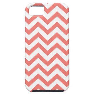 珊瑚のシェブロンのiPhone 5/5sの場合 iPhone SE/5/5s ケース