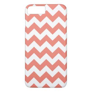珊瑚のジグザグ形のシェブロンのiPhone 7のプラスの場合 iPhone 8 Plus/7 Plusケース