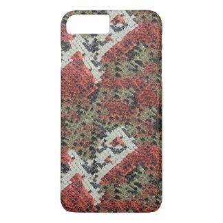 珊瑚のスネークスキン iPhone 8 PLUS/7 PLUSケース