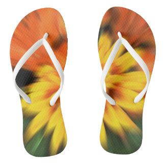 珊瑚のダリアの花 ビーチサンダル