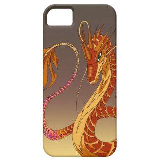 珊瑚のドラゴンの薄暗がりのブラウンのiPhone 5/5sカバーを始動させて下さい iPhone SE/5/5s ケース