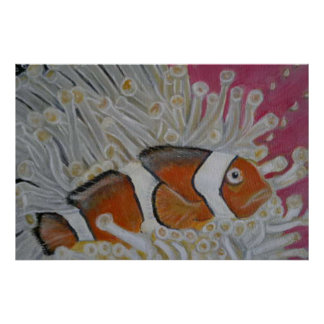 珊瑚のピエロの魚 ポスター