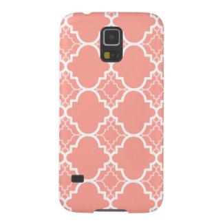 珊瑚のピンクのクローバーの幾何学的なパターン GALAXY S5 ケース