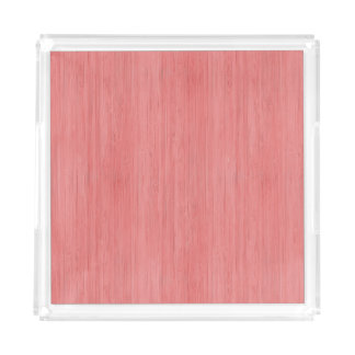 珊瑚のピンクのタケ木製の穀物の一見 アクリルトレー