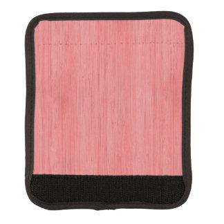 珊瑚のピンクのタケ木製の穀物の一見 ラゲッジ ハンドルラップ