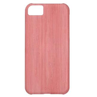 珊瑚のピンクのタケ木製の穀物の一見 iPhone5Cケース