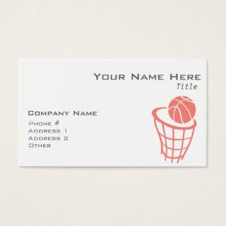 珊瑚のピンクのバスケットボール 名刺
