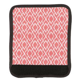 珊瑚のピンクの幾何学的な種族のイカットのダイヤモンドパターン ラゲッジ ハンドルラップ