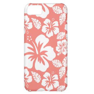 珊瑚のピンクの熱帯ハイビスカス iPhone5Cケース