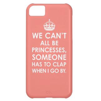珊瑚のピンク私達はすべてプリンセスiPhone5の例である場合もありません iPhone5Cケース