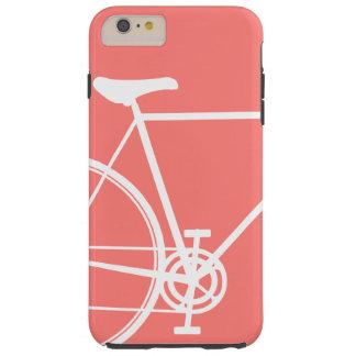 珊瑚のプラス抽象的なバイクの穹窖の堅いiPhone 6 Tough iPhone 6 Plus ケース