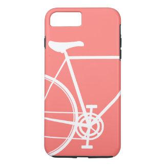 珊瑚のプラス抽象的なバイクの穹窖の堅いiPhone 7 iPhone 8 Plus/7 Plusケース