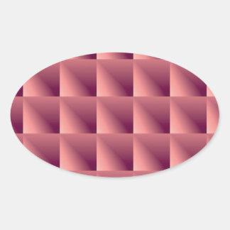 珊瑚のペーパースロット 楕円形シール