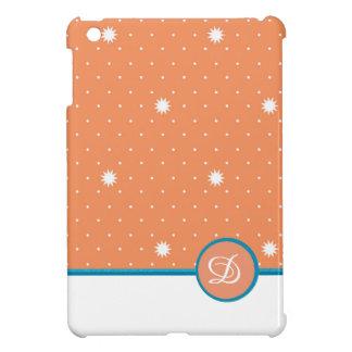 珊瑚のモノグラムの小型iPadの場合 iPad Mini カバー