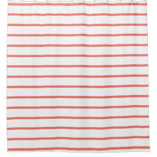 珊瑚のモモのファッションのストライプなシャワー・カーテン シャワーカーテン