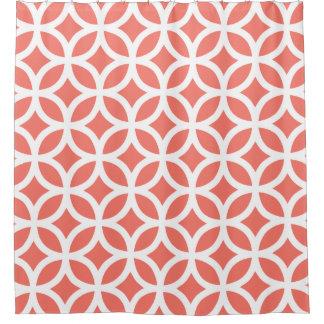 珊瑚のモモ幾何学的なパターンシャワー・カーテン シャワーカーテン