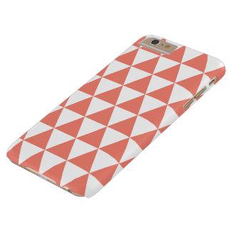 珊瑚の三角形パターンiPhone 6のプラスの場合 Barely There iPhone 6 Plus ケース