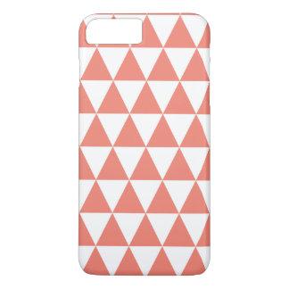珊瑚の三角形パターンiPhone 7のプラスの場合 iPhone 8 Plus/7 Plusケース