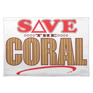 珊瑚の保存 ランチョンマット