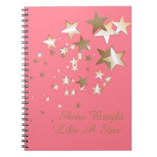 珊瑚の星の螺線形ノート ノートブック