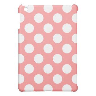 珊瑚の水玉模様のiPad Miniケース iPad Mini カバー