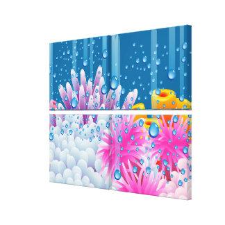 珊瑚の海 キャンバスプリント