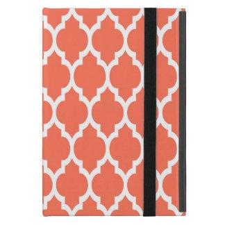 珊瑚の白いモロッコのクローバーパターン#4 iPad MINI ケース