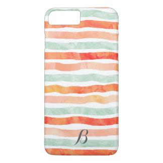 珊瑚の真新しいオレンジのストライプなiPhone 7のプラスの場合 iPhone 8 Plus/7 Plusケース