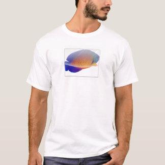 珊瑚の美しいのAngelfishのTシャツ Tシャツ