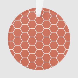 珊瑚の蜜蜂の巣の六角形の幾何学的なパターン オーナメント