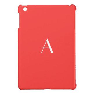珊瑚の赤いモノグラムのiPad Miniケース iPad Mini Case