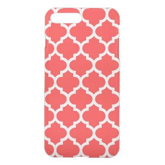 珊瑚の赤く白いモロッコのクローバーパターン#5 iPhone 8 PLUS/7 PLUS ケース