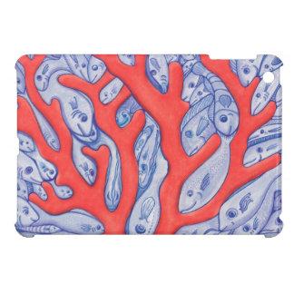 珊瑚の青およびオレンジiPad Miniケースの幸せな魚 iPad Miniカバー