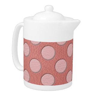 珊瑚の革プリントのピンクの水玉模様