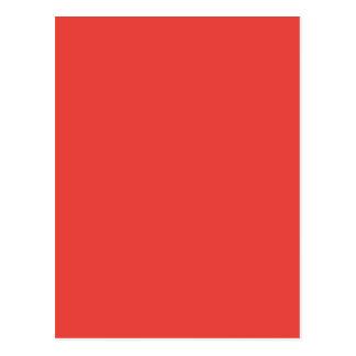 珊瑚の(無地ので豊富な赤味がかピンク色の) ~ ポストカード