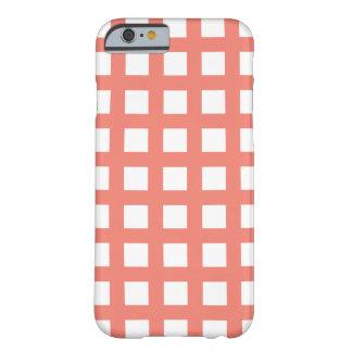 珊瑚のiPhone 6つのケース-格子点検 Barely There iPhone 6 ケース