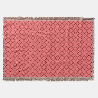 珊瑚のmorrocanクローバーパターン投球毛布 スローブランケット
