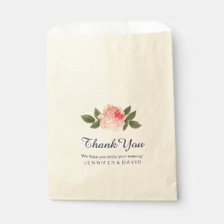 珊瑚のPeonieの結婚式の引き出物のバッグ(50) フェイバーバッグ