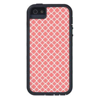 珊瑚のQuatrefoilのiPhoneの場合 iPhone SE/5/5s ケース