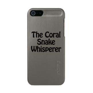 珊瑚ヘビの囁くもの メタリックiPhone SE/5/5sケース