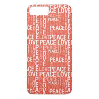 珊瑚愛平和タイポグラフィ iPhone 8 PLUS/7 PLUSケース