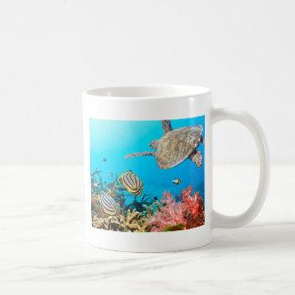 珊瑚礁のカメNaturescape コーヒーマグカップ