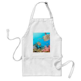 珊瑚礁のカメNaturescape スタンダードエプロン