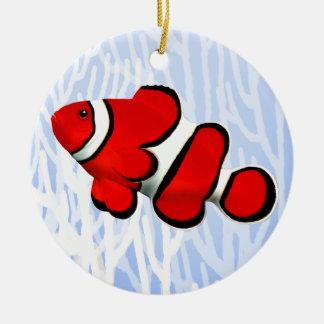 珊瑚礁の赤いピエロのアネモネ魚のオーナメント セラミックオーナメント