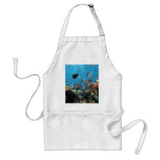 珊瑚礁の魚Naturescape スタンダードエプロン