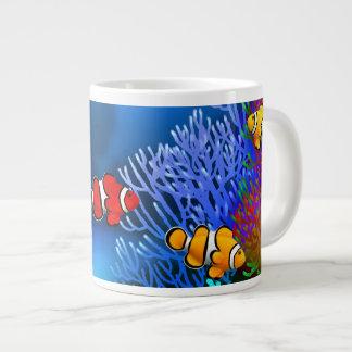 珊瑚礁のPercula Clownfishの専門のマグ ジャンボコーヒーマグカップ